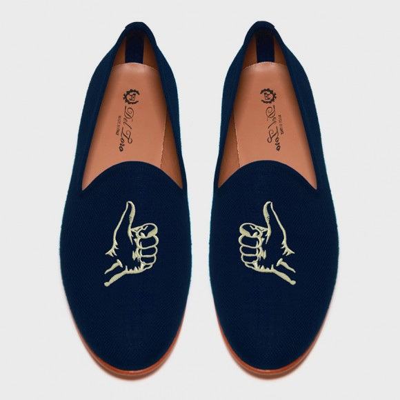 Thumbs up Linen Loafers from Del Toro