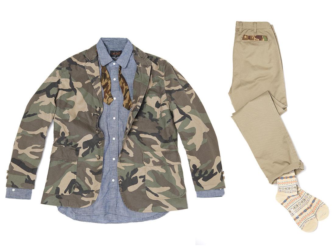 Spring Summer Camo Gentleman Menswear Beams Plus 2013