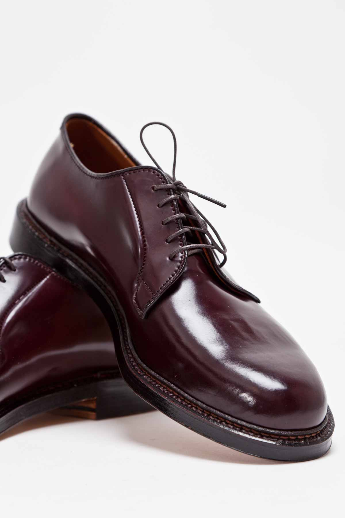 The alden cordovan plain toe blucher in burgundy soletopia for The alden