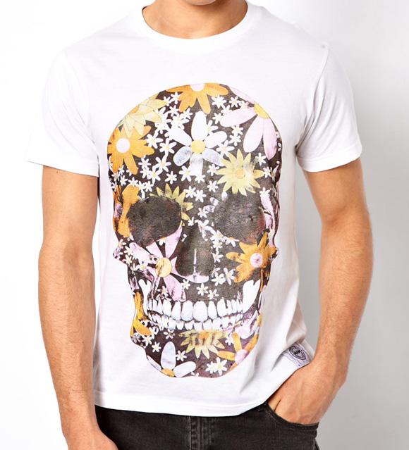Your Eyes Lie T-Shirt Floral Skull