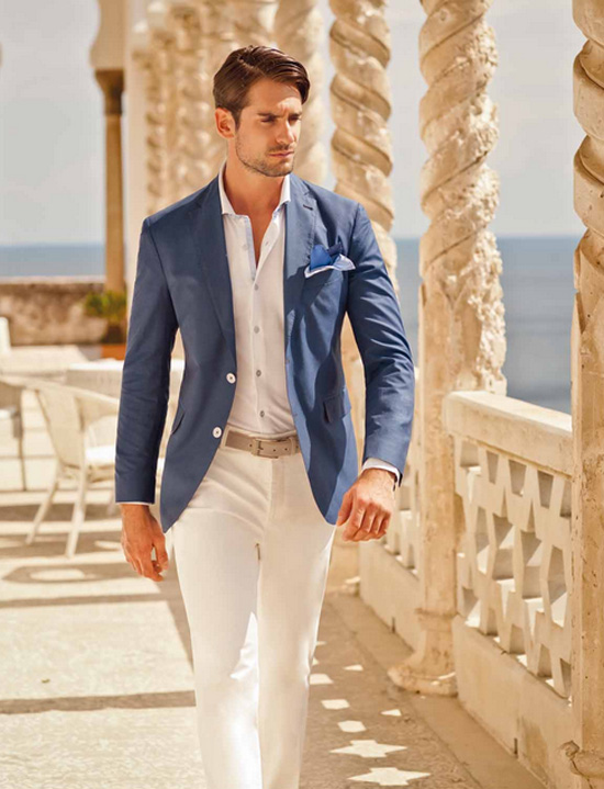Summer White Pants Outfit Men