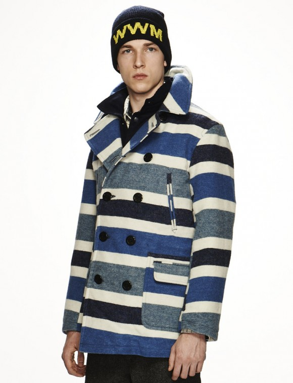 Awesome 4 color double breasted pea coat Woolrich Woolen Mills