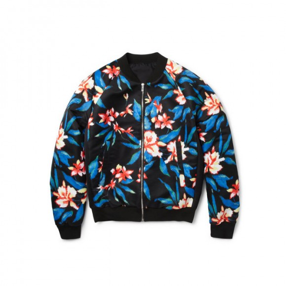 Because of the Russian in You Floral Print Bomber