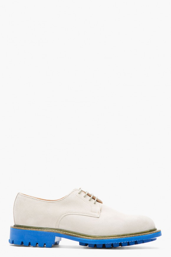 Beige suede blue sole shoes Mark McNairy