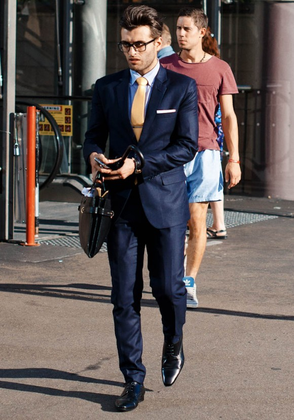 Best dressed man in the city sleek derby shoes