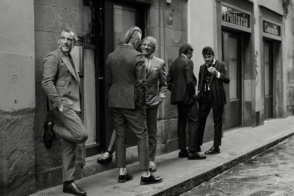 Best Dressed Men in the City: black & white Lino Ieluzzi + Alessandro Squarzi