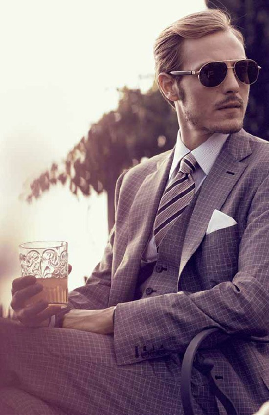 Brioni Checked Plaid Suit SS13 Lookbook