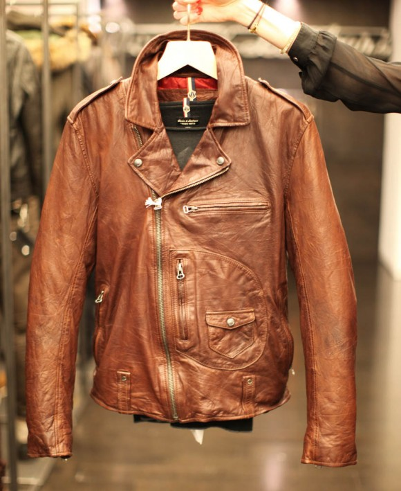 Andrew Marc brown rust Leather Jacket FW13 Lookbook - SOLETOPIA