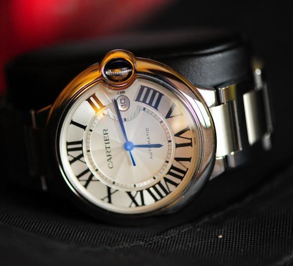 Cartier Automatic blue hands + Roman numerals & date