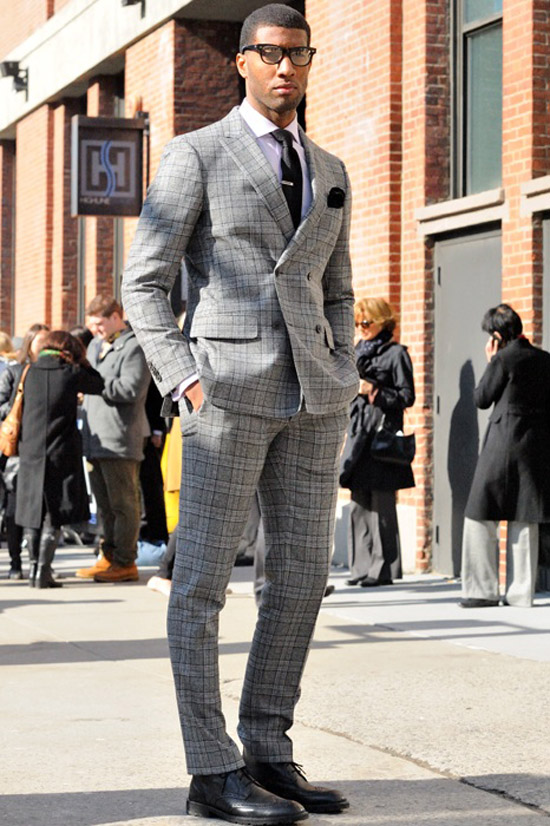 smart menswear pattern peak lapel suit amp wingtip brogues