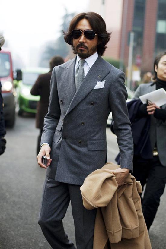 Classy Formal grey menswear