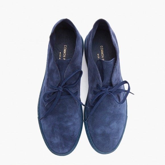 Common Projects suede navy desert boot