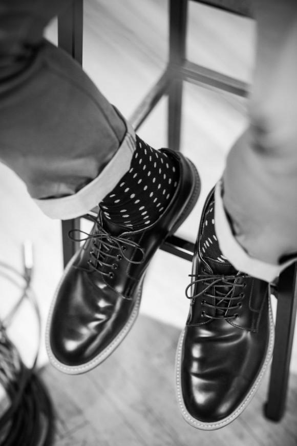 Cuffed Trousers polka dots & derbies