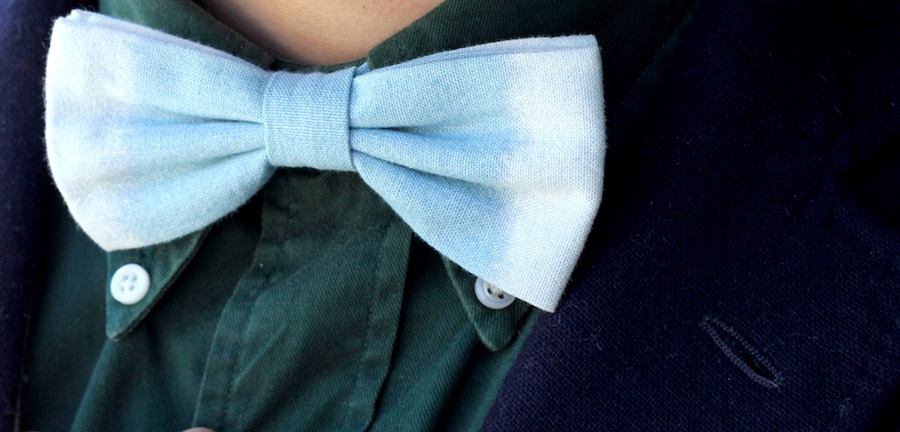Denim bowtie Untitled