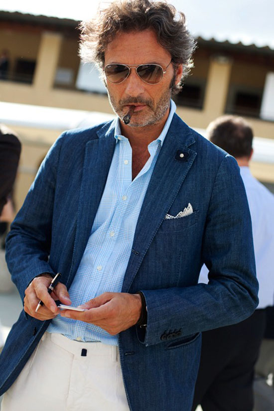 Denim Sport Coat in Florence | SOLETOPIA