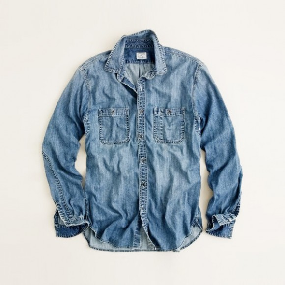 Denim work shirt J.Crew