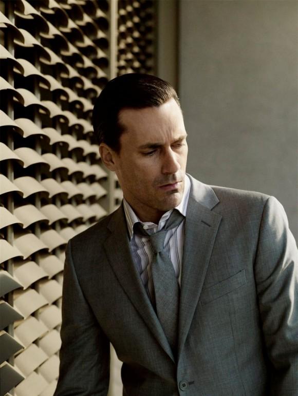 Don Draper Grey Suit & Slick Hair