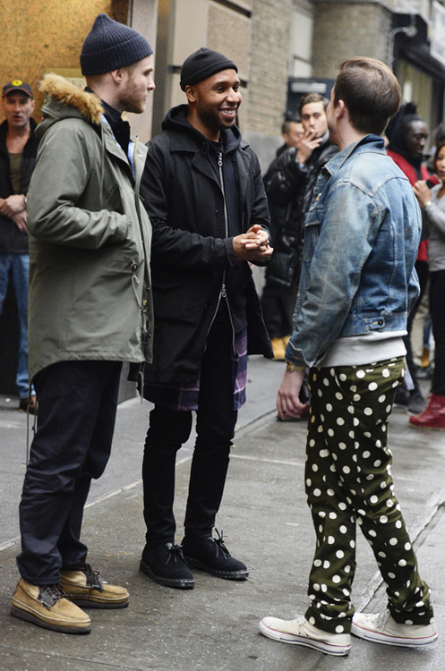 Green Polka Dot Pants streetstyle