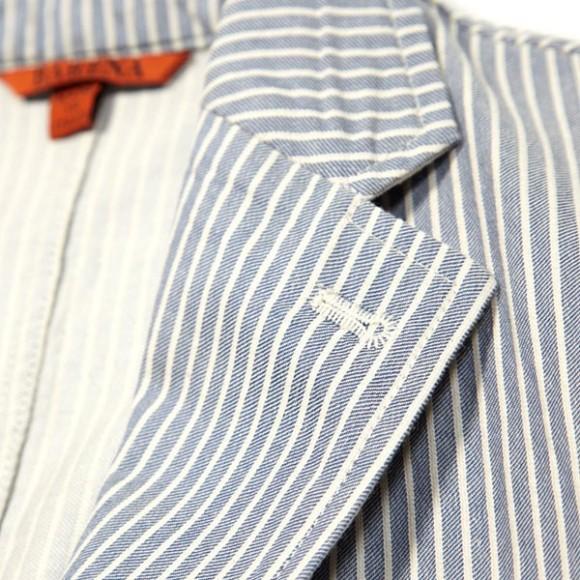 Horizontal Blue Stripe Italian style jacket