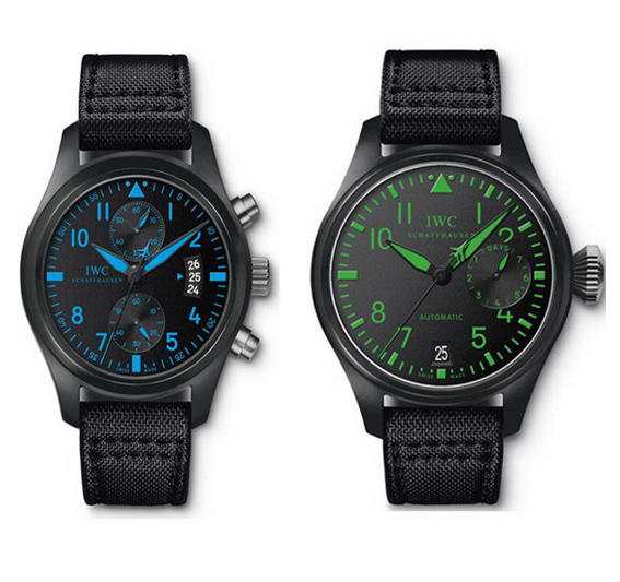 IWC black canvas strap 'Top Gun' series watches