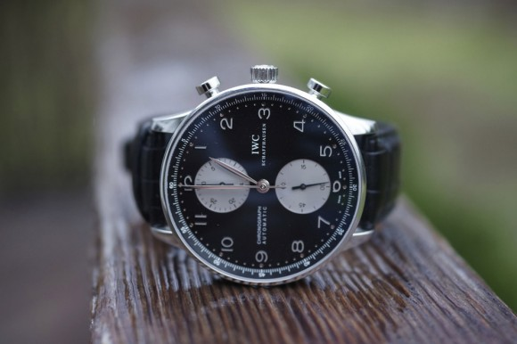 IWC Portuguese Chronograph Automatic black face