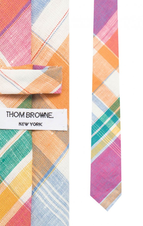 Madras Multi Color Tie, Thom Browne