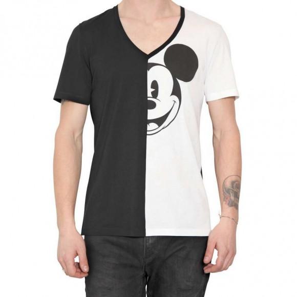 Mickey Mouse half print v-neck