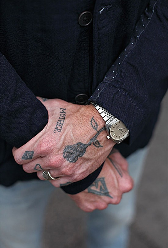 Mother x rose hand tattoo soletopia for Male hand tattoos