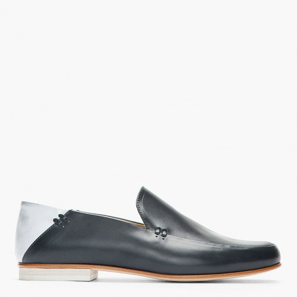 Mr. Hare Two-Tone Loafers in Navy & Silver