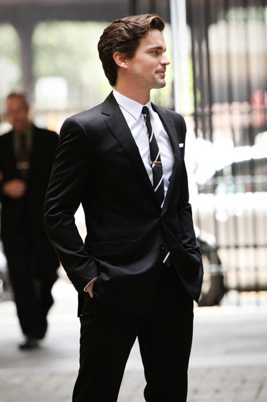 Neal Caffrey/Matt Bomer White Collar formal black suit | SOLETOPIA