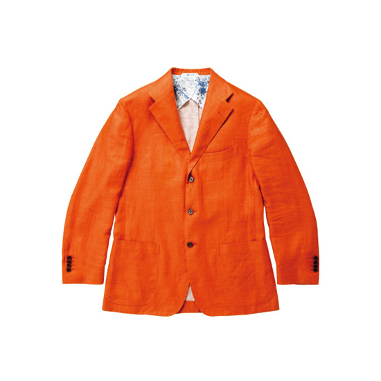 Orange jacket Sartorio, Kiton