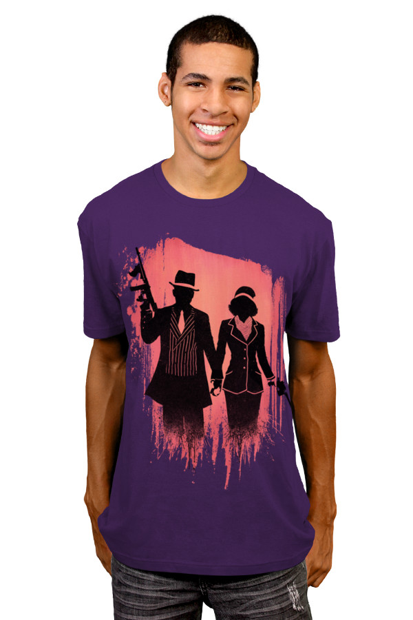 Outlaw Lovers Tee, purple
