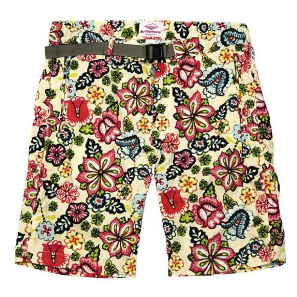 Peacock Floral Pattern shorts, Battenwear