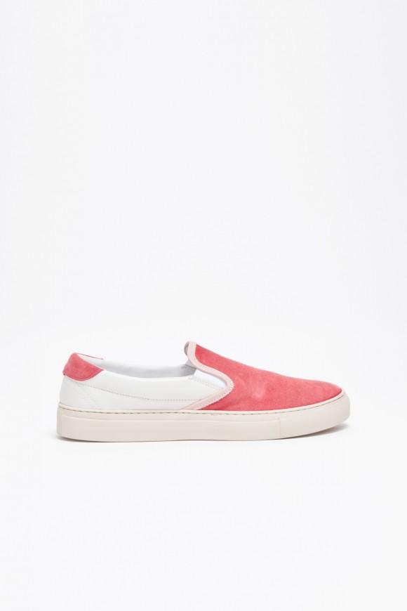 Pink/White slip on sneaker Diemme