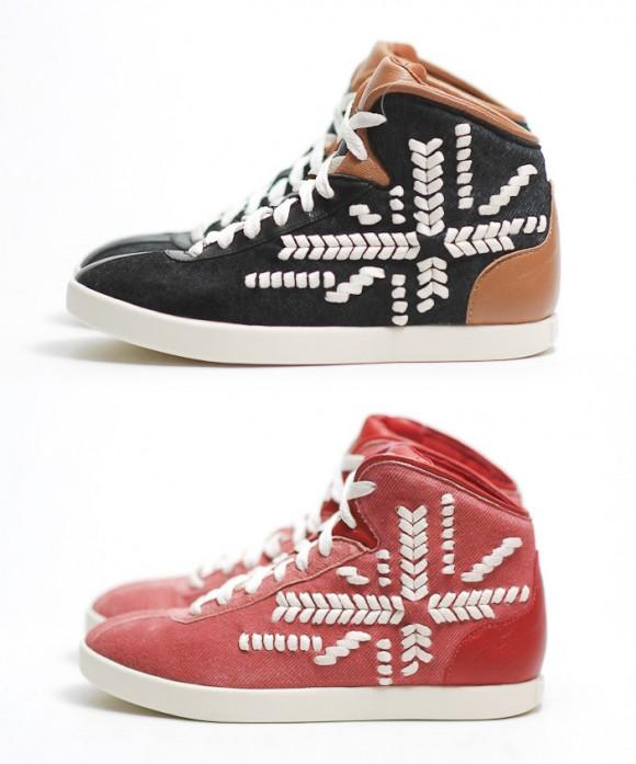 PUMA x Alexander McQueen 'Medius' Snowflake Stitch Sneakers