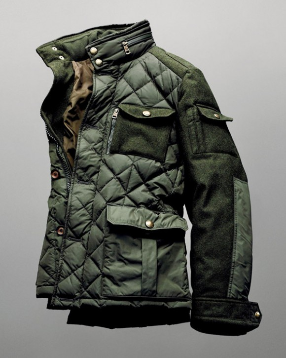 Quilted Panel Knitted Sleeves field jacket | SOLETOPIA : quilted panel - Adamdwight.com