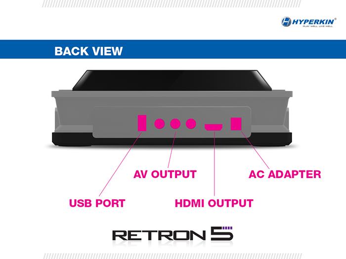 Retron 5 back view