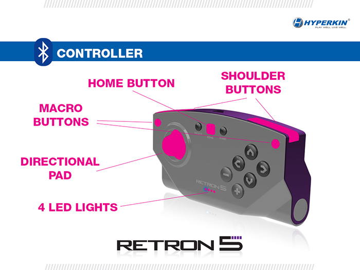 Retron 5 controller gaming system