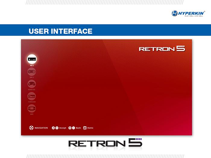 Retron user interface screencap
