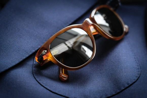 Shiny Plastic Frame sunglasses