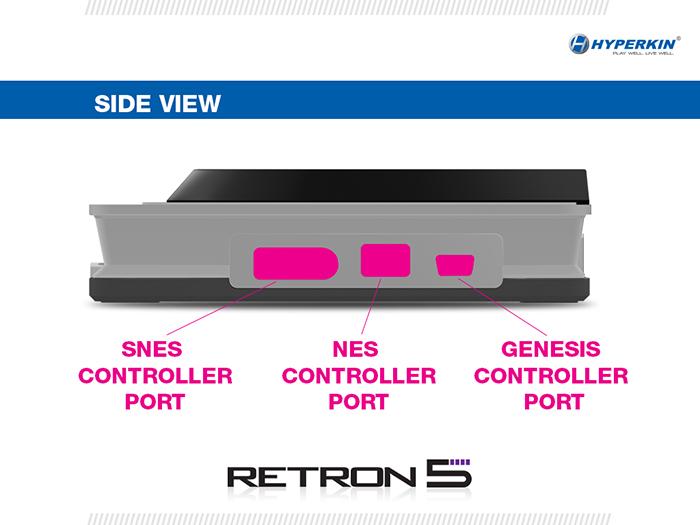 Retron 5 retro gaming system side view