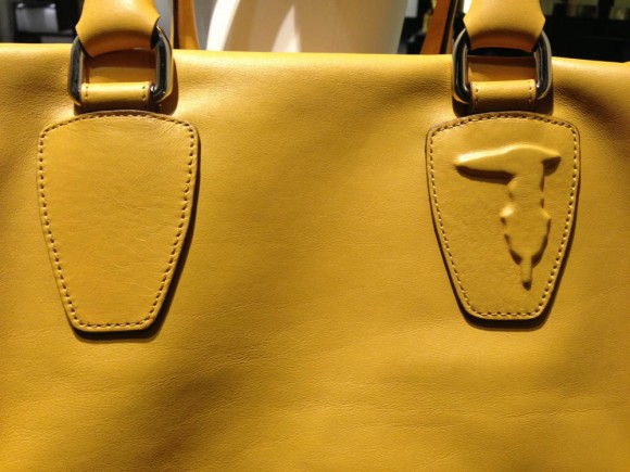 Trussardi Italian leather bag details