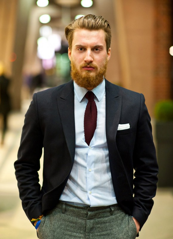 Tucking a tie inside the dress shirt, style for men