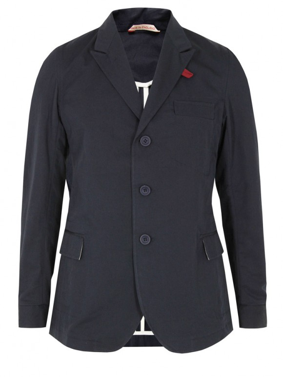Unstructured peaked lapel navy jacket Oliver Spencer