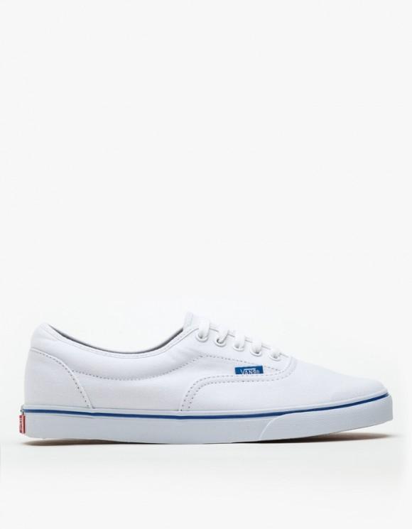 Vans White LPE blue strip