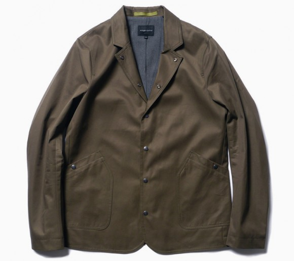 wings + horns brown grey Drill blazer Jacket SS13