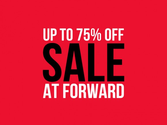 75% Off sale menswear FORWARD