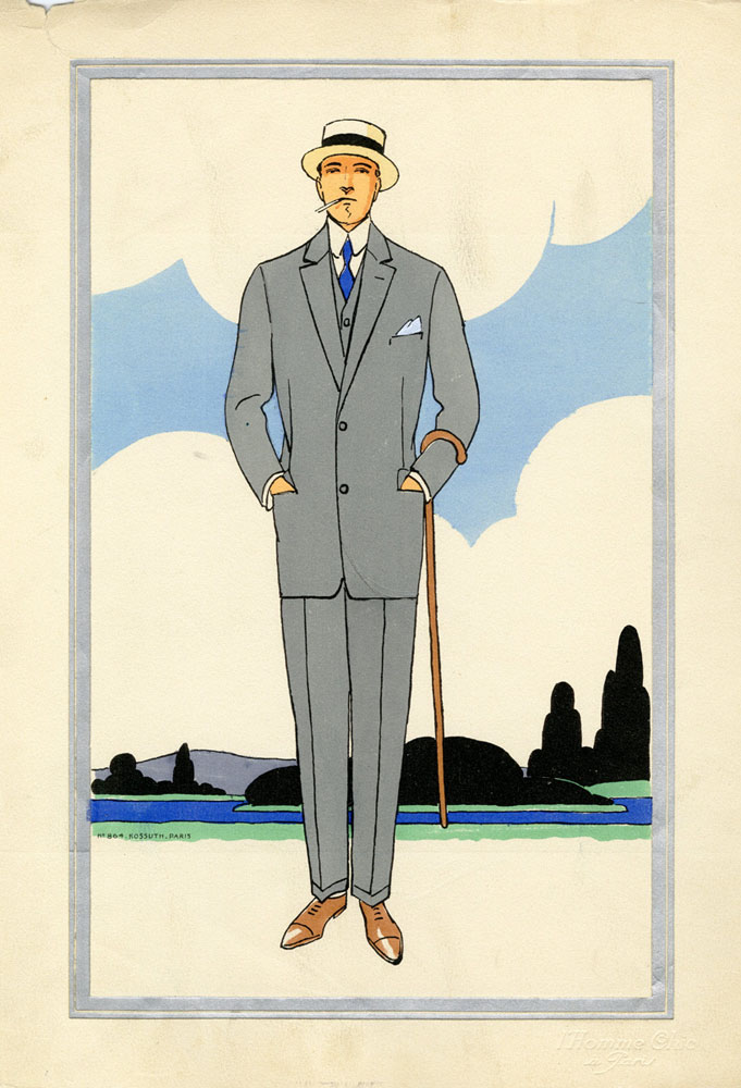 Antique 1920s men's fashion illustrations 1