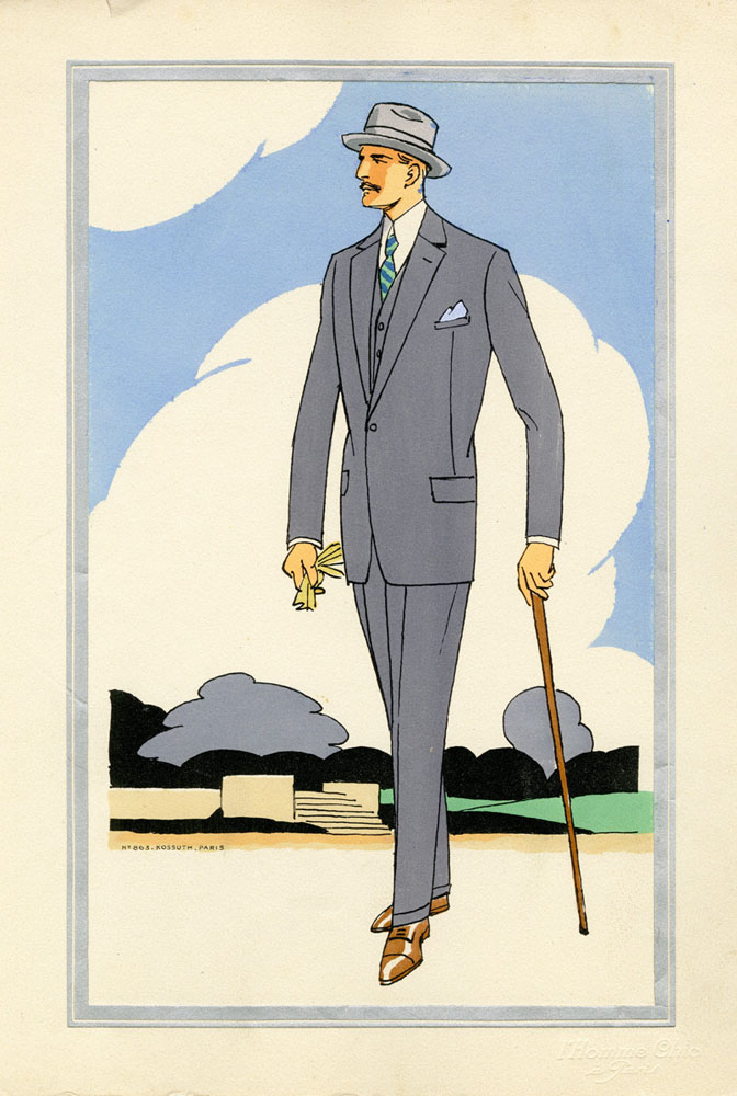 Antique 1920s men's fashion illustrations 3