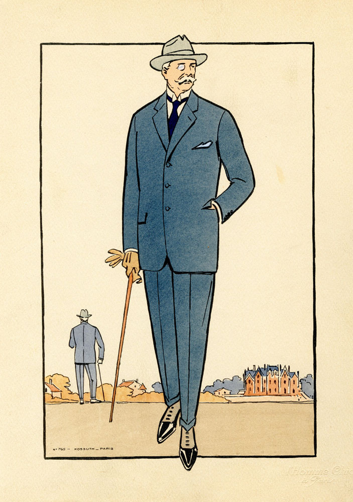 Antique 1920s men's fashion illustrations 4
